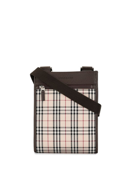 Burberry Pre-Owned check pattern crossbody bag in brown