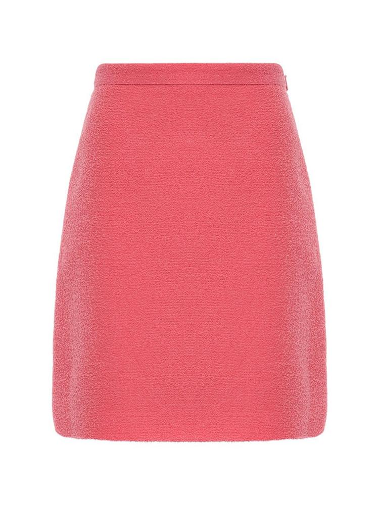 GUCCI Gg Wool Blend Tweed Mini Skirt in pink