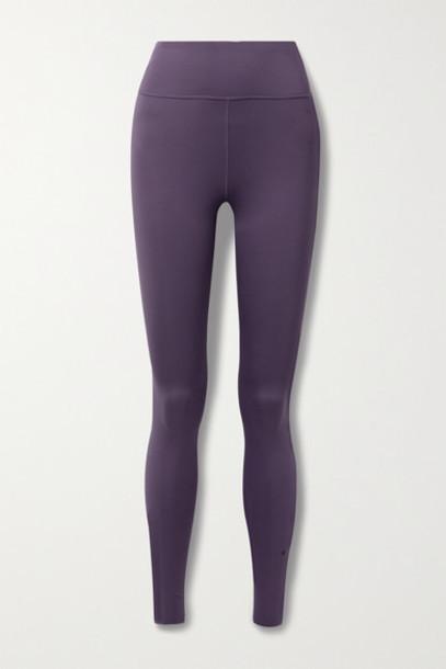 Nike - One Luxe Dri-fit Stretch Leggings - Purple