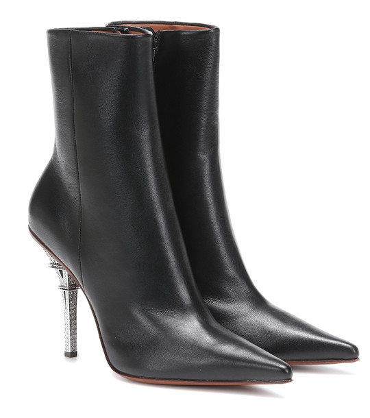 Vetements Eiffel Tower leather ankle boots in black