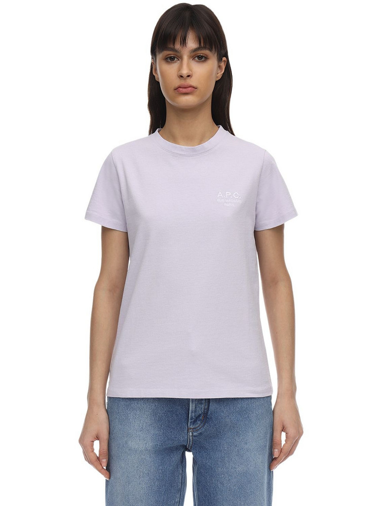 A.P.C. Denise Cotton Jersey T-shirt in pink