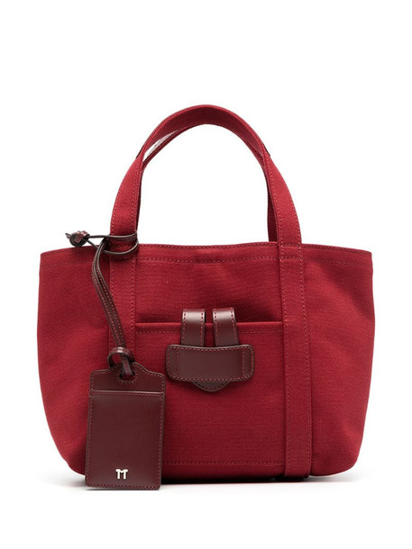 Tila March canvas tote bag in red