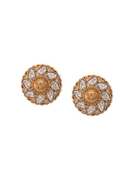 Versace Medusa gemstone earrings - Gold