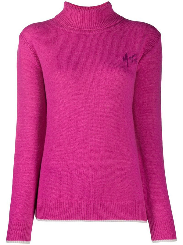 MSGM knitted logo jumper in pink