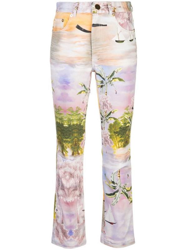 Cynthia Rowley Gill straight-leg jeans in purple