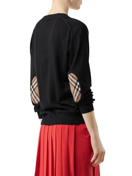 BURBERRY Merino Wool Knit Cardigan in black