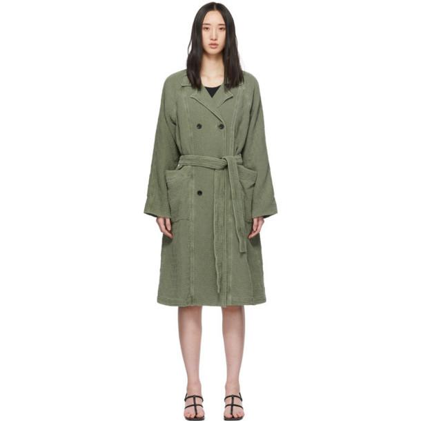 Raquel Allegra Green Raglan Trench Coat