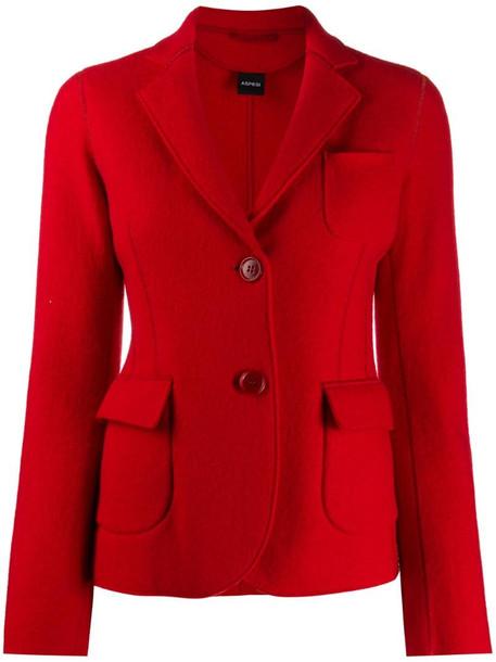 Aspesi patch pocket blazer in red