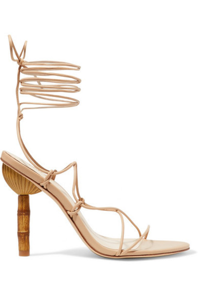 Cult Gaia - Soleil Leather Sandals - Beige