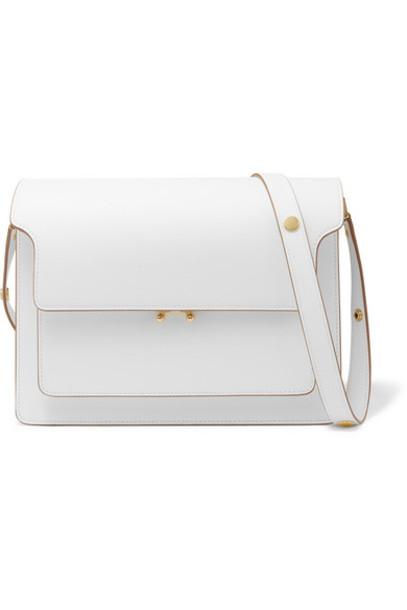 Marni - Trunk Large Textured-leather Shoulder Bag - Cream