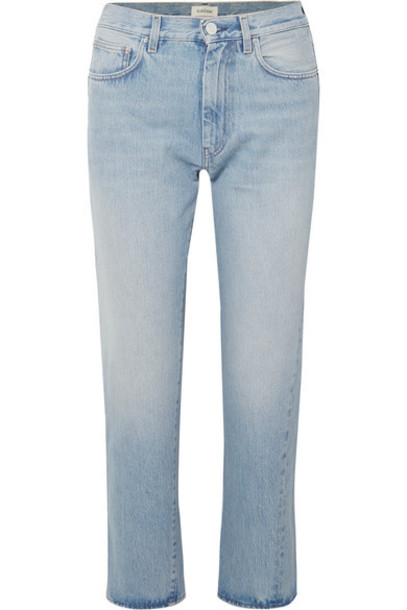 Totême - Original Mid-rise Straight-leg Jeans - Light denim