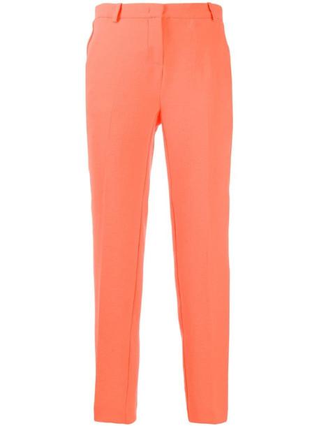 Pinko slim-fit tailored trousers in orange