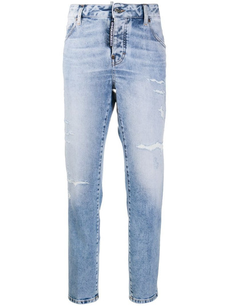 Dsquared2 Cool Girl distressed jeans in blue