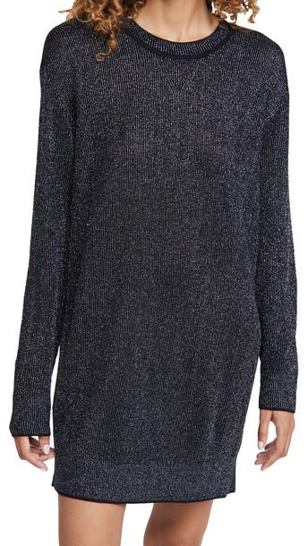 Rag & Bone Cherie Mini Sweater Dress in navy