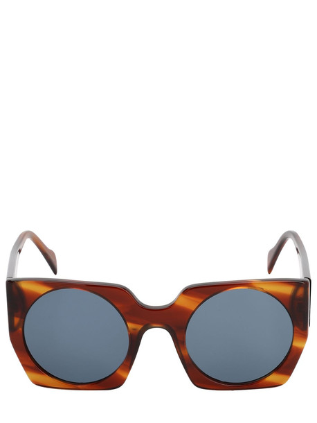 ANDY WOLF Liesl Squared Acetate Sunglasses in blue