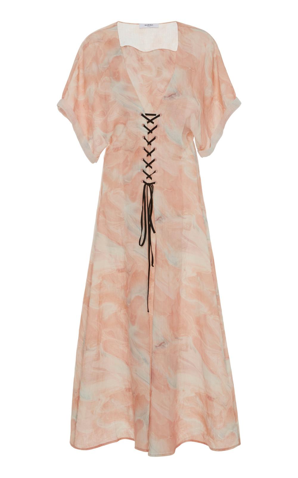 Marysia Swim Sonora Printed Linen Midi Dress in multi