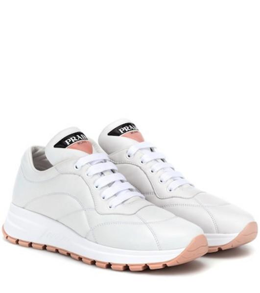 Prada PRAX-01 leather sneakers in white