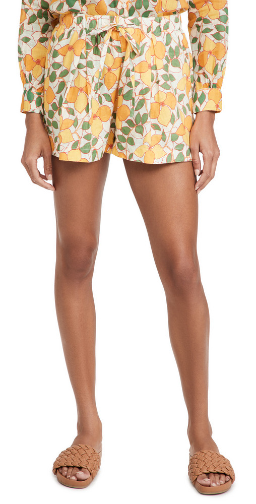Birds of Paradis Ione Shorts in yellow