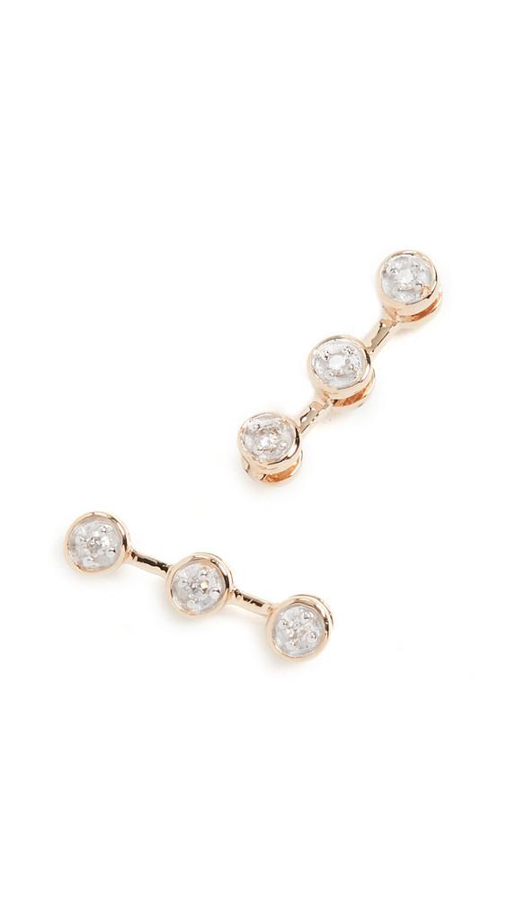 Adina Reyter 14k 3 Diamond Post Earrings in gold / yellow