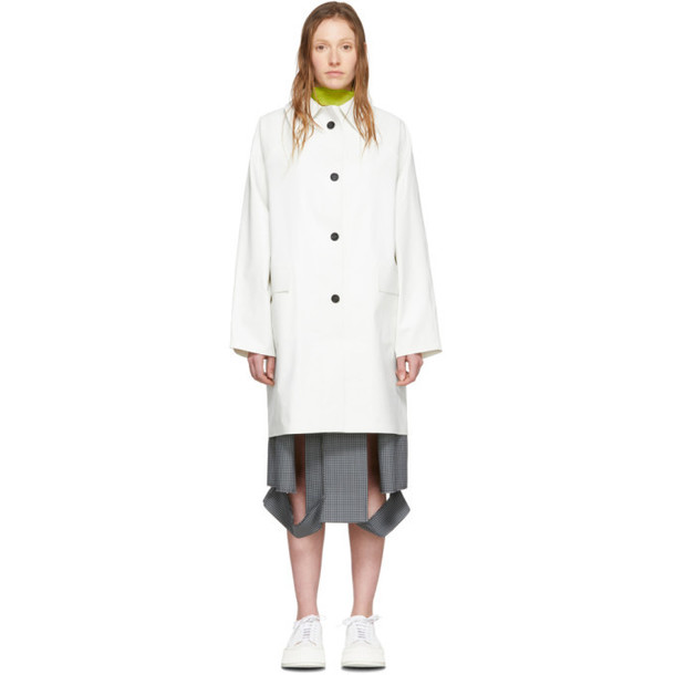 Kassl Editions White Above-The-Knee Coat