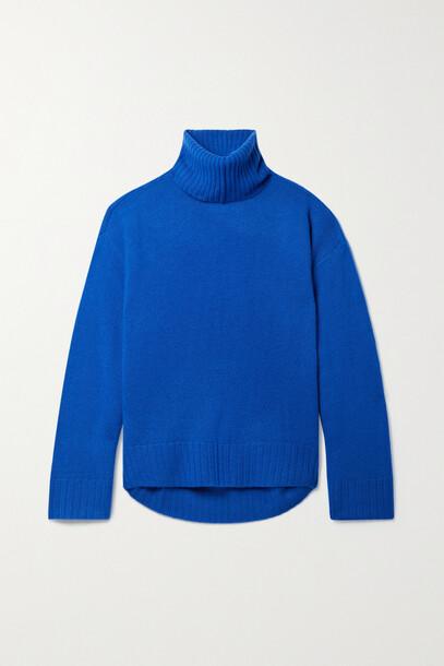 APIECE APART - Vester Convertible Cashmere Turtleneck Sweater - Blue