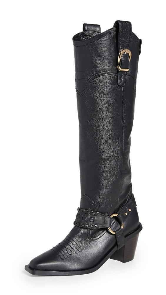 Reike Nen Western Knee High Boots in black