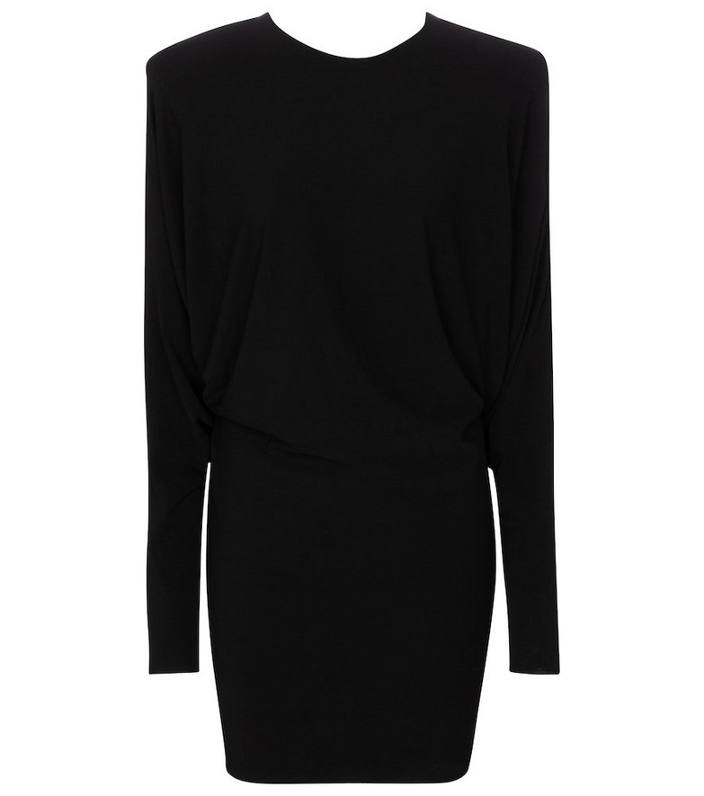 Alexandre Vauthier Stretch-jersey minidress in black