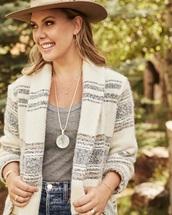 coat,cream,tribal pattern,blazer,soft,neutral