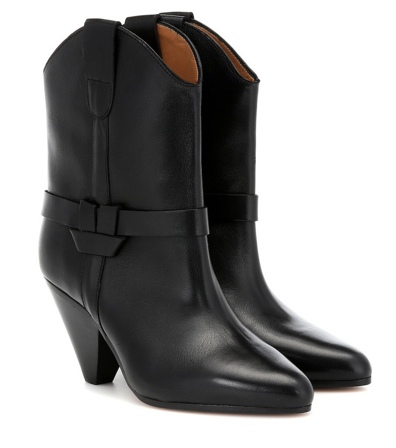Isabel Marant Deane leather ankle boots in black