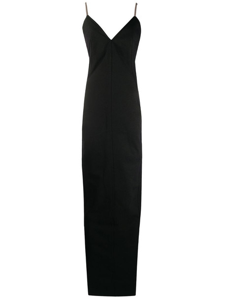 Rick Owens fitted backless dress in black