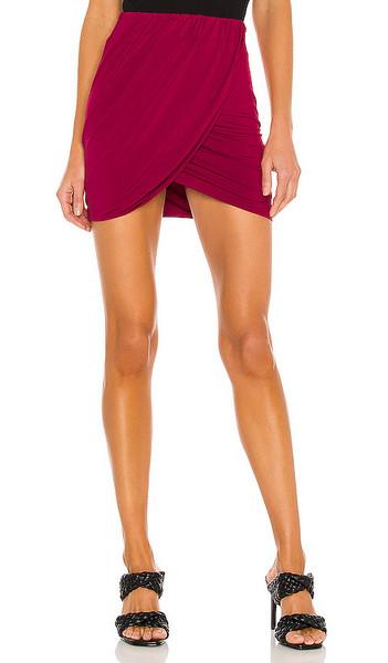 NBD Kamala Mini Skirt in Burgendy in red