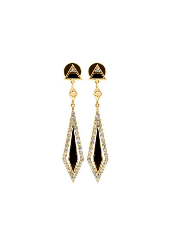 Alessa 18kt yellow gold diamond Arrow drop earrings
