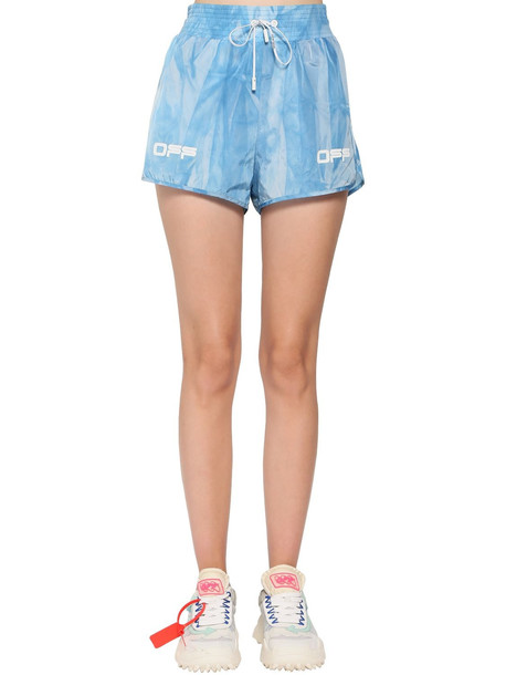 OFF-WHITE Active Nylon Shorts in blue