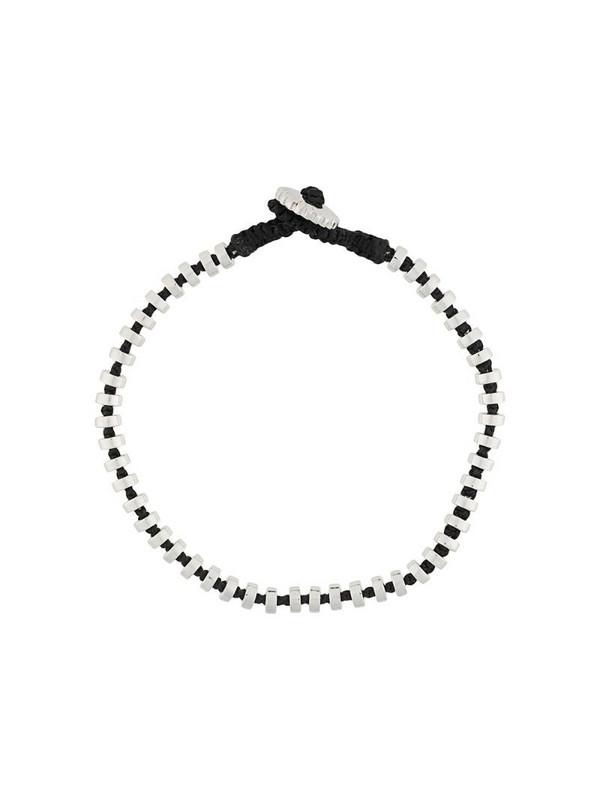 Tateossian Pulse macramé bracelet in silver