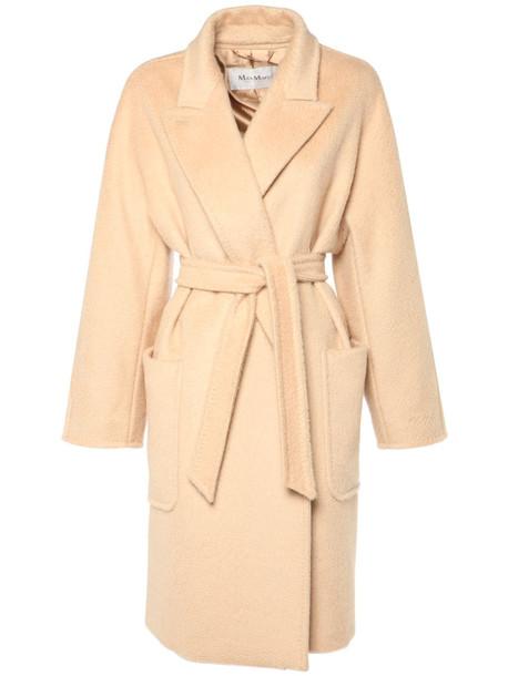 MAX MARA Crine Camel Knee Length Coat in beige