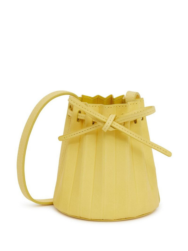 Mansur Gavriel Baby Pleated bucket bag in yellow