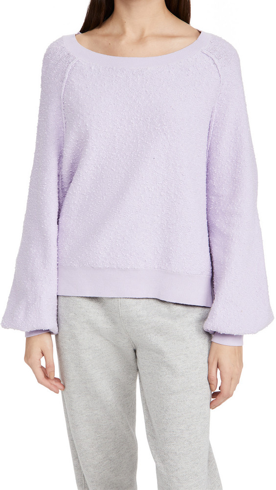 Free People Found My Friend Pullover Sweater in lilac