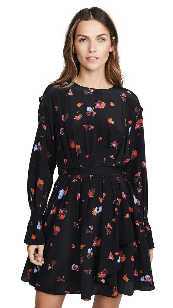 Jason Wu Floral Long Sleeve Dress in multi