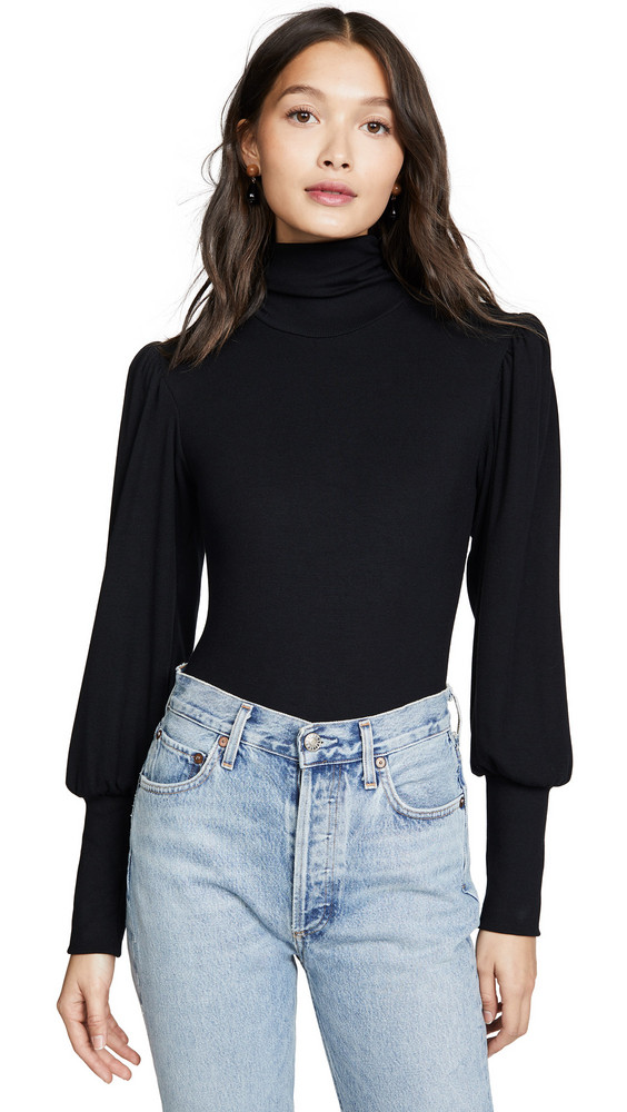 Rachel Pally Lux Rib Eloise Bodysuit in black