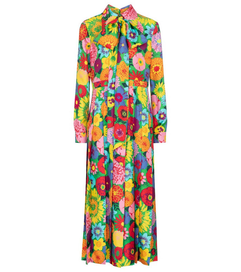 Gucci x Ken Scott floral silk maxi dress