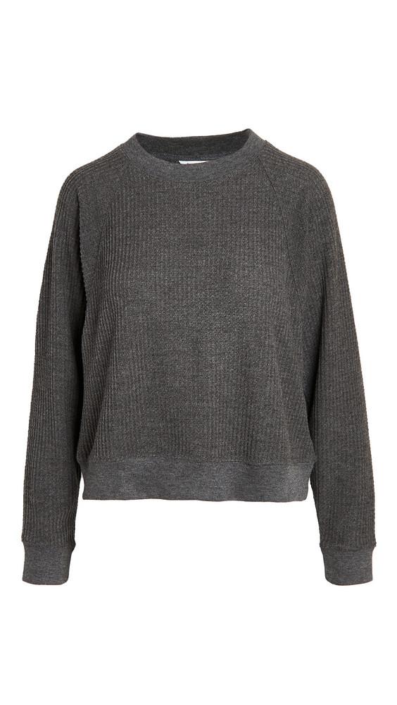 Splendid Firestone Crew Neck Sweater in charcoal