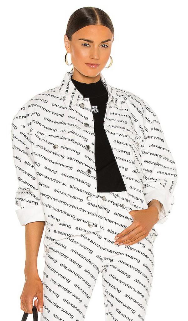 DENIM x ALEXANDER WANG Falling Back Jacket in black / white