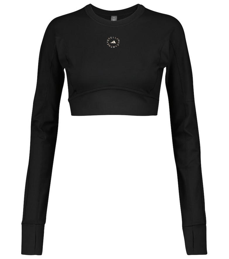 adidas by Stella McCartney Logo performance crop top in black