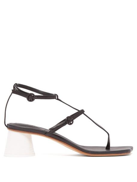 Mm6 Maison Margiela - Sculpted Cup Heel Sandals - Womens - Black