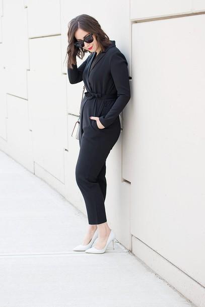 adventures in fashion blogger jumpsuit bag shoes sunglasses jewels