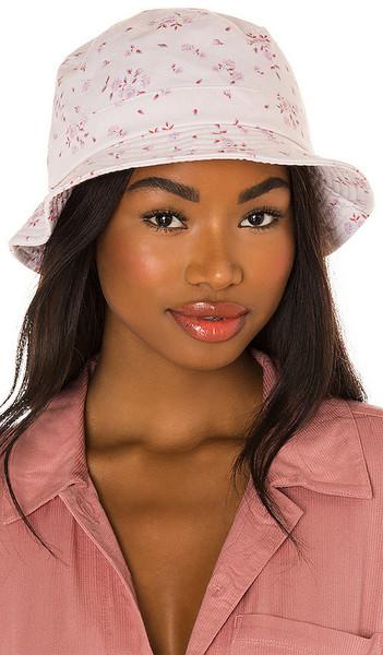 Frankies Bikinis Jax Bucket Hat in Blush in rose