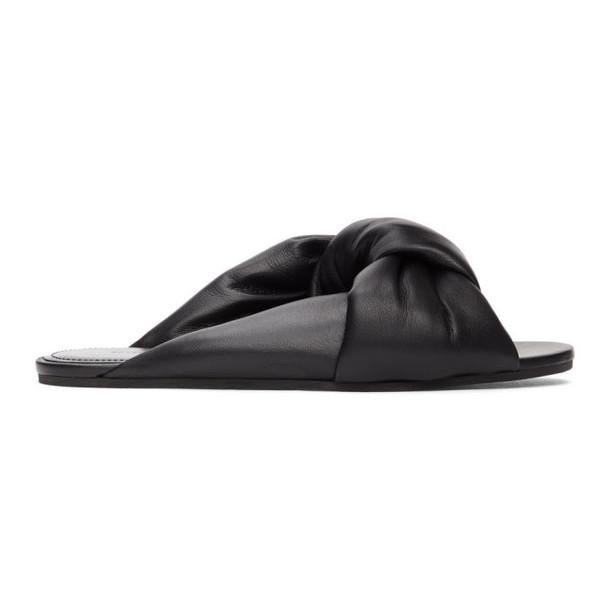 Balenciaga Black Drapy Sandal