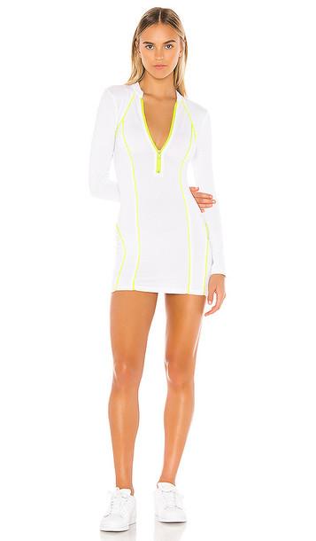 superdown Marina Zip Front Dress in White