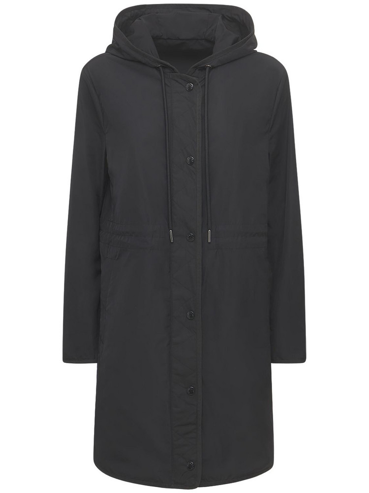 MONCLER Lebris Hooded Technic Faille Parka in black