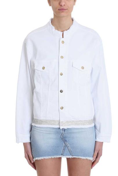 Alexandre Vauthier Crystal Belt Denim Jacket